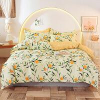 伊迪梦家纺 全棉单品被套被罩单件 纯棉斜纹高支高密面料 家纺床上用品单人双人大小规格床FY16