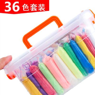 超轻粘土24色盒装橡皮泥彩泥超轻泥套装儿童手工12色36色太空泥土
