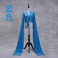 纯色渐变色古典京剧藏族练习水袖儿童连体袖舞蹈表演服
