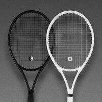 网球拍单人专用初学者套装碳纤维全碳素男女通用情侣一体训练 裸球拍 A套餐黑色