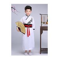 儿童古装汉服国学书童服装男女童古筝表演三字经弟子规朗诵演出服qg