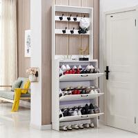 超薄翻斗鞋柜家用门口大容量玄关柜北欧进门门厅柜带挂衣架省空间