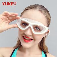 高清透明游泳眼镜男士近视游泳镜大框泳镜女女士