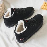 二棉鞋女冬季2018新款百搭学生韩版短筒棉靴加绒帆布鞋保暖雪地靴