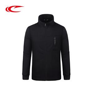 赛琪男装开衫运动卫衣2017秋季新款保暖透气运动服立领上衣外套男