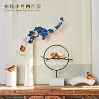创意新中式禅意家居软装饰品摆件现代客厅电视柜酒柜玄关茶几摆设