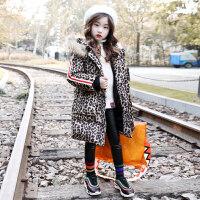 女童棉衣2018新款中长款加厚儿童韩版女孩洋气外套中大童冬装 如图色