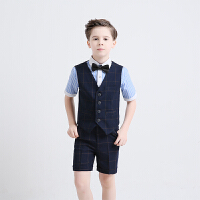 男童礼服套装花童主持人儿童表演男孩西装大童马甲钢琴演出服西服