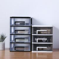 桌面收纳盒 家用收纳抽屉式办公室书桌收纳柜小号文具透明箱子杂物储物盒