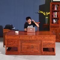 仿古实木办公桌古典中医诊桌书桌台式电脑桌榆木大班台中式老板桌