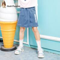 【3件3折:110元】暇步士童装女童短裤2020夏装新品棉时尚复古牛仔裙中大童儿童裙裤