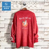 秋冬季男士毛衣男圆领针织衫打底线衣