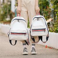 双肩背包女潮 2018新款 韩版百搭学院风旅行背包简约高中学生书包