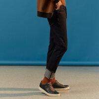 【满1000减750】MECITY男装冬季新款男简约水洗磨白合体版牛仔裤