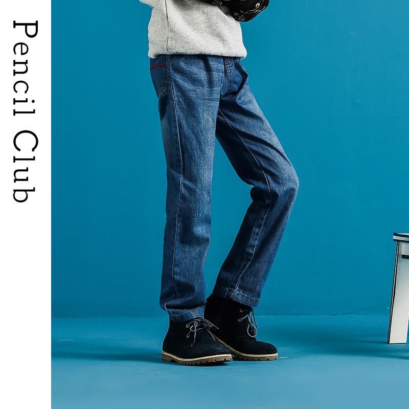 【3折价:49.8】铅笔俱乐部童装2020春装新款男童牛仔裤中大童长裤儿童松紧腰裤子