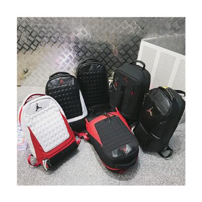 AJ13双肩包芝加哥双肩背包户外书包电脑包黑猫红白AJ12学生运动