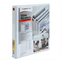 齐心文具办公美式三面插袋页文件夹 A4 0.5寸3孔D型夹 A210