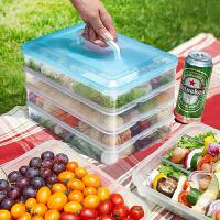 收�{盒 多用途�o分格大容量方形塑料�子盒冰箱收�{盒家用冰箱密封罐加厚�ξ锖形魇奖ur盒