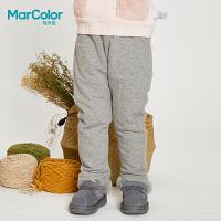 【1件2折】巴拉巴拉旗下马卡乐冬季童装 卡通贴布撞色保暖夹棉长裤
