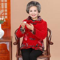 中老年女装奶奶装棉衣外套加厚保暖60-80岁老太太棉袄
