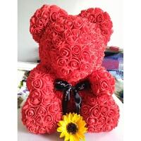 香皂花玫瑰熊花抱抱熊永生花公仔情人节圣诞节礼物
