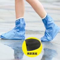 雨鞋套防雨防水鞋套男女防滑耐磨加厚底雨天户外徒步骑行鞋套