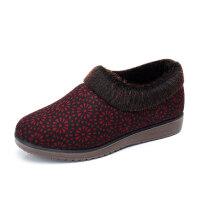 冬季老北京布鞋加绒保暖居家女棉鞋妈妈鞋平底中老年人防滑棉拖鞋软底
