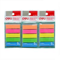 得力deli9063萤光贴 荧光膜 指示标签 分类贴 N次贴 彩色