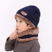 儿童帽子围巾套装宝宝男童毛线帽秋冬季3岁5女4潮8男孩中大童护耳 均码