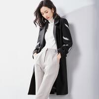 梵希蔓梵希蔓风毛呢大衣女中长款2018冬新款显瘦妮子外套