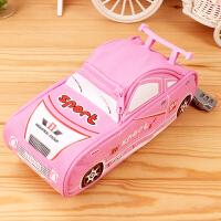 韩版文具个性文具笔袋男孩创意大容量帆布恐龙铅笔盒密码锁笔袋 GC9614跑车粉色