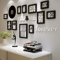 简约现代风格客厅背景墙装饰画餐厅创意组合挂画卧室床头黑白墙画 152*72