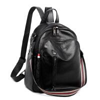 双肩包女2018新款韩版潮软皮包百搭女生两用时尚背包学生校园书包