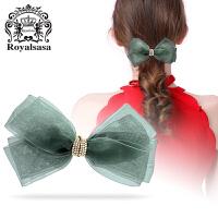 皇家莎莎头饰韩国蝴蝶结发夹弹簧夹马尾夹扎发卡女士顶夹发饰