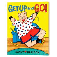 大家一起来锻炼 英文原版绘本 Get Up and Go 3-5岁亲子阅读故事书 英文版 进口原版英语书籍 南希卡尔森