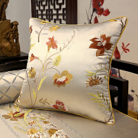 红木沙发坐垫 靠垫抱枕套 圈椅垫 罗汉床垫海绵 新中式实木沙发垫