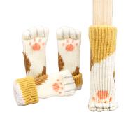 桌脚套椅脚套耐磨木地板保护套猫咪肉垫椅子脚垫凳子腿防磨保护套 黄色猫脚 猫脚套8只