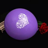 12寸 加厚结婚气球圆形爱心印章气球 求婚告白气球 生日派对婚礼气球 结婚婚房装饰布置婚庆用品