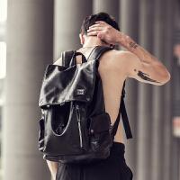 赫登尔双肩包男士潮流背包学生书包电脑包潮男韩版旅行包时尚休闲
