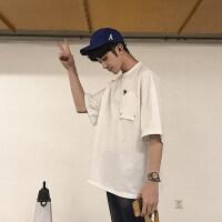 男短袖T恤 潮流韩版宽松百搭2018夏季半袖衣服五分袖