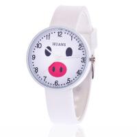 韩版果冻儿童手表学生小猪卡通可爱软妹学生小清新石英手表