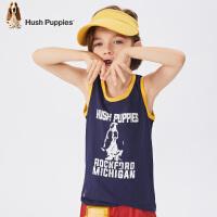 【3折价:59.7元】暇步士童装夏季新款男童背心时尚撞色印花运动背心儿童背心