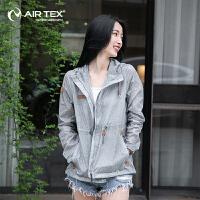 【拍下立减30元】AIRTEX亚特防晒抗紫外线登山跑步旅行修身女式皮肤风衣