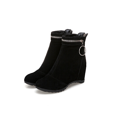 2018冬秋冬季新款韩版内增高雪地靴女短筒加绒冬鞋女短靴女靴子潮