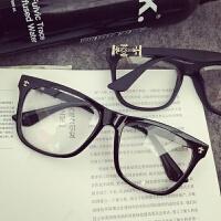 2018新品同款眼镜框女韩版潮圆脸素颜平光镜男复古克罗心眼镜架装饰眼镜可配近视
