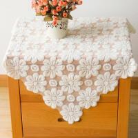 床头柜盖布纱布搭巾正方形杯具罩布结婚灰布古筝美式灰尘茶吧机