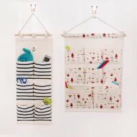 门后收纳挂袋墙壁衣柜整理袋墙上多层布艺收纳袋挂袋悬挂式储物袋