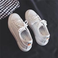 小白鞋女冬季加绒2018新款百搭韩版学生帆布鞋山本风运动复古休闲