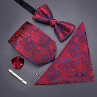 男士正装领带休闲韩版结婚新郎懒人拉链领结方巾领带夹五件套