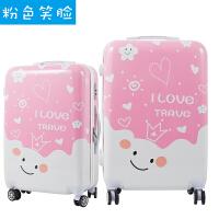 卡通拉杆箱女可爱20寸旅行箱小清新涂鸦大学生行李箱迷你小箱韩版